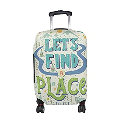 056273189f36 good U LIFE Quotes Bohemian Colorful Luggage Suitcase Cover Protector for  Men Women