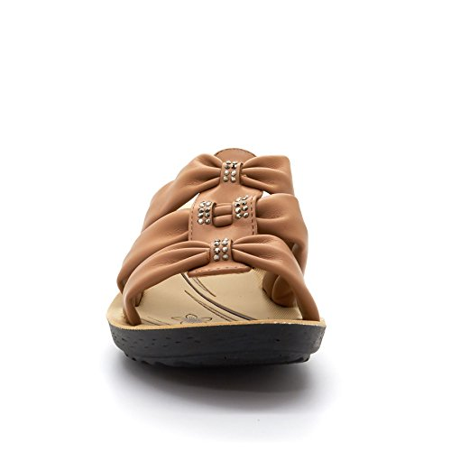 London Footwear - talón abierto mujer marrón
