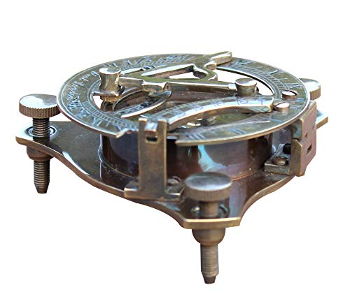collectiblesBuy Vintage Brass Antique Marine Sundial Compass Fully Functional Handmade Gift
