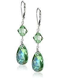 Sterling Silver and Swarovski Elements Drop Earrings