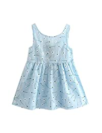 OcEaN Toddler Girls Princess Dress Kids Baby Summer Party Wedding Sleeveless Dresses