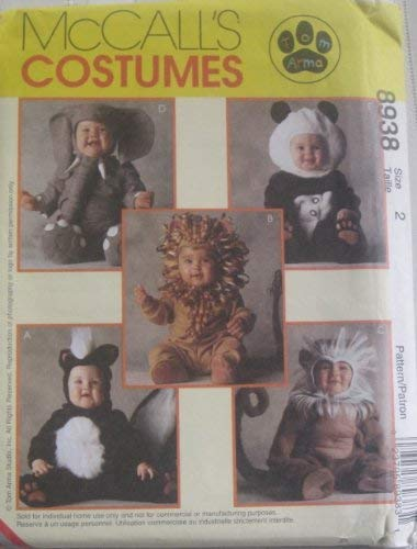 MCCALLS PATTERN 8938 TODDLERS COSTUMES SIZE 2