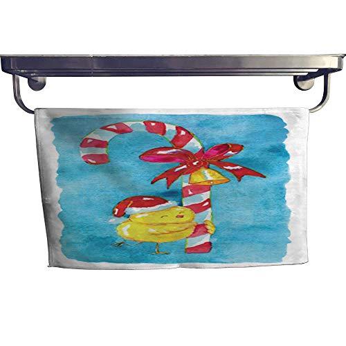(warmfamily Absorbent Towel Chicken in Santa Cap Towel W 10