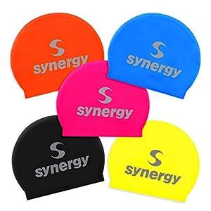 Synergy Latex Swim Caps Combo Pack