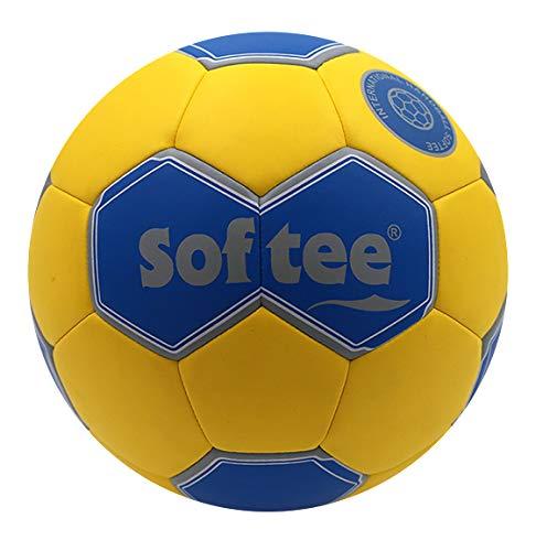 Balon Balonmano Softee Addicted - 52CM - Color Amarillo Y Azul ...