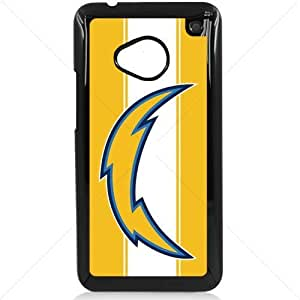 NFL American football San Diego Chargers Fans HTC One M7 Hard Plastic Black or White case (Black)