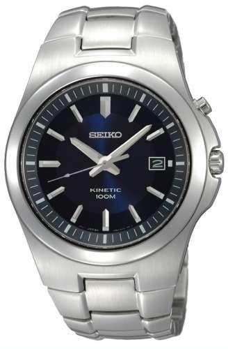 Seiko Kinetic Marino Azul Dial de los hombres reloj # SKA455P1: Amazon.es: Relojes