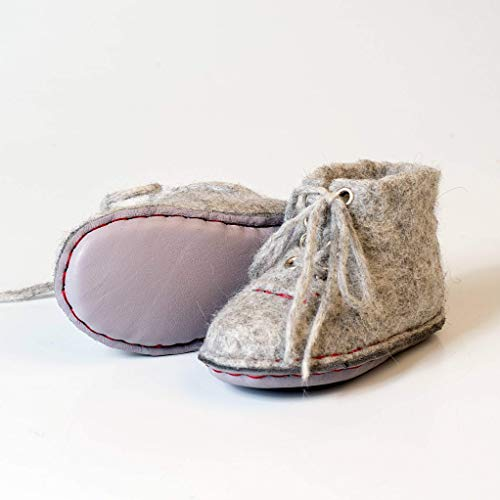 (BureBure Felted Wool Baby Sneakers Boots Handmade in Europe )