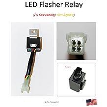 LED Flasher Relay 4 Pin Honda CBR VTX RVT VFR Slows Signal Flash Speed