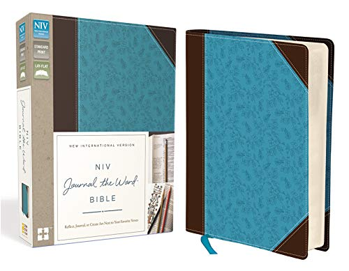 NIV, Journal the Word Bible, Leathersoft, Brown/Blue: Reflect, Journal, or Create Art Next to Your Favorite Verses (Best Gesso For Art Journaling)