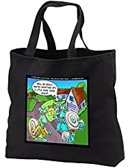 Londons Times Funny Bugs and Slugs Cartoons - Snail Real Estate Showings - Tote Bags