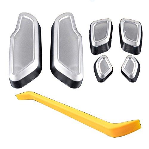 Set of 6pcs Chrome Door Seat Button Adjust Switch For Mercedes-Benz W166 W246 W204 W212 W218 X204 X166 ()