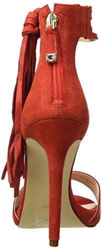 y para Mujer Guess con Zapatos Sue03 Rosso Tira Vertical Rojo Tacon qw6IR