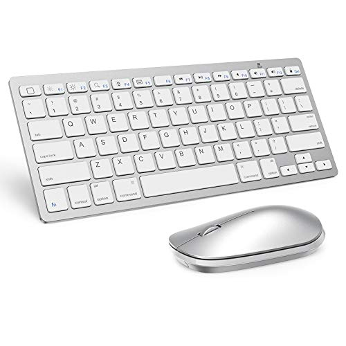 teclado y mouse bluetooth para ipad pro mini plateado