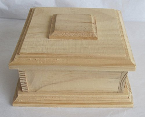 (Provo Craft Unfinished Wood Wooden Small Box 6