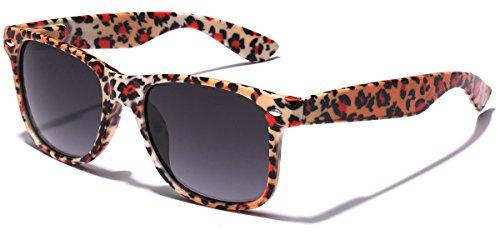 Children Colorful Animal Print Wayfarer Sunglasses Age 6-14 - Orange