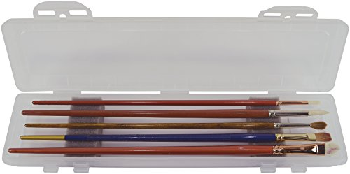 Pro Art Clear Brush Box with Foam Insert, 12.5 by 3-Inch by Pro Art
