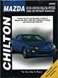 Mazda 323, MX-3, 626, Millenia, and Protege, 1990-98 (Chilton's Total Car Care Repair Manuals) [Paperback] [1999] 1 Ed. Chilton