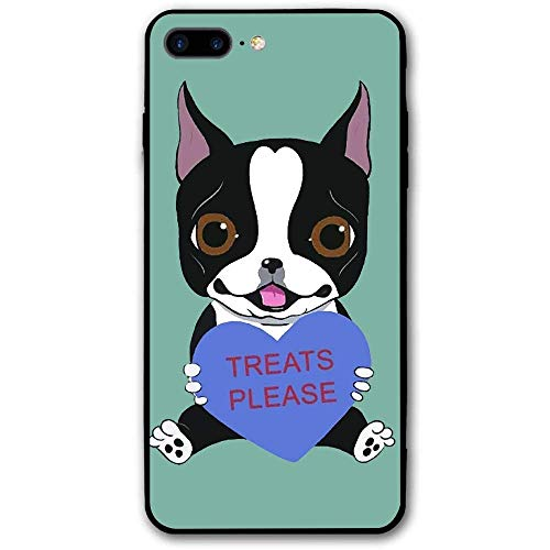 CHUFZSD Boston Terrier iPhone 7/8 Plus Case Soft Flexible TPU Anti Scratch Shock-Proof Protective Shell Compatible Phone Case Cover (5.5 Inch)