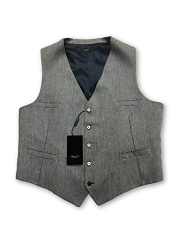Size grey In Linen Navy Holland Waistcoat Esquire 50r pqw6gX