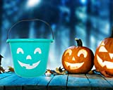 Teal Trick or Treat Pumpkin Halloween Bucket - 9