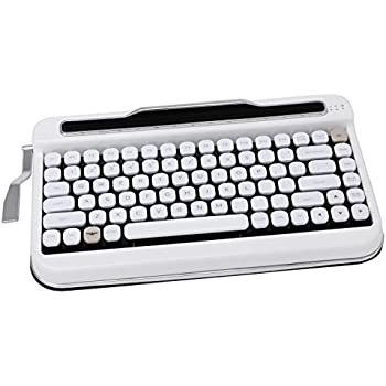 Penna Bluetooth Keyboard with White Diamond Shape Keycap(US Language) (Switch-Cherry Mx Brown, Pure White)