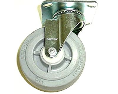 "Colson Performa Gray Rubber Swivel Caster 4"" x 1-1/2"" w/4""x4-3/8"" Top Plate"