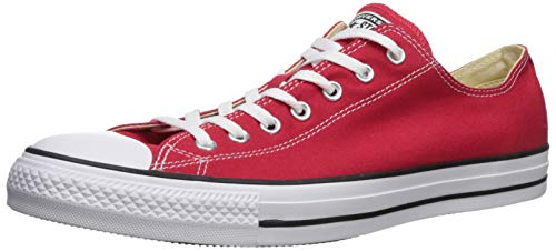 Converse Chuck Taylor All Star Canvas Low Top Sneaker,  Red ,6 mens_us/8 womens_us (Red Converse Women)