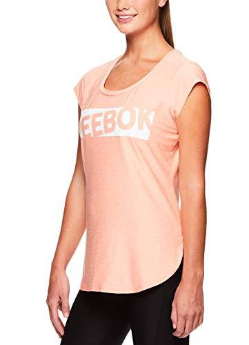 Reebok Women's Legend Performance Top Short Sleeve T-Shirt - Desert Flower Heather, Extra Small by Reebok (Image #2)