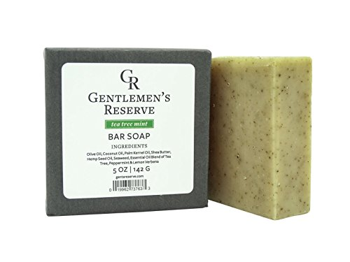 Men's Organic Exfoliating Tea Tree Mint Bar Soap – All Natural  Organic – Handmade with Olive Oil, Coconut Oil, Peppermint Oil,  Tea Tree Oil