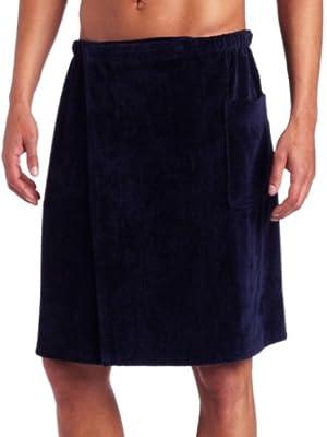 100% Cotton Men's Bath Wrap Plush Male Spa Wrap Plush Men's Shower Wrap Cover up