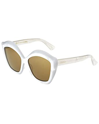 b988dab527 Image Unavailable. Image not available for. Color  Gucci Womens Women s  Gg0117s-30001564003 53Mm Sunglasses