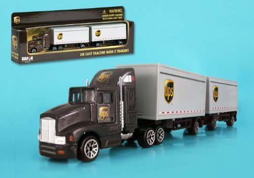 PS Tandem Tractor Trailer 1/87 HO Scale Diecast Truck ()