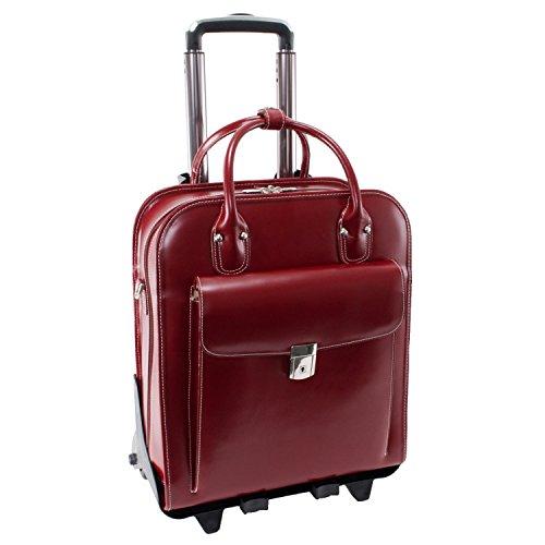 McKlein USA LA GRANGE W Series Vertical Detachable-Wheeled Briefcase in Red
