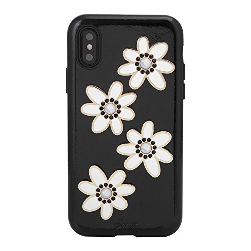 Sonix Opal Daisy Patent Leather Cell Phone Case Swarovski Crystal Embellishments [Drop Test Certified] Sonix Women's Patent Case for Apple (5.8