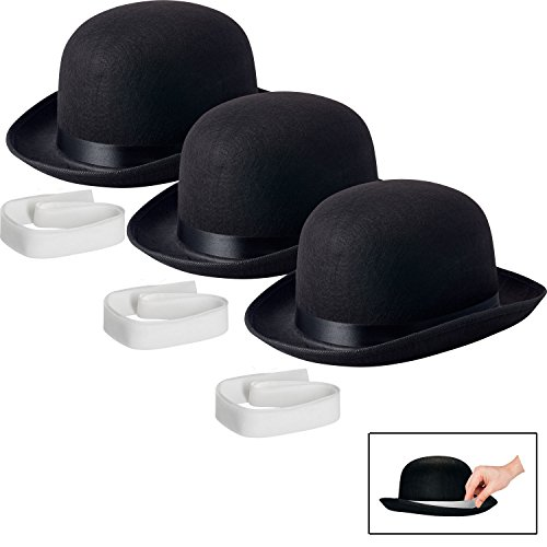NJ Novelty Black Derby Hat, 5