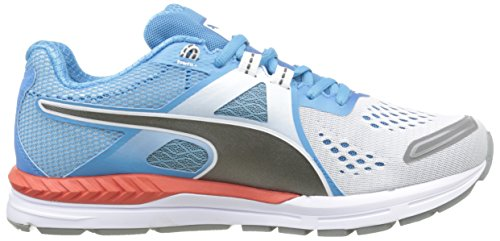 Puma Speed 600 Ignite, Zapatillas de Deporte Unisex para Adulto Multicolor (White/Atomic Blue/Aged Silver)