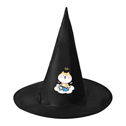 Kids Homemade For Costumes Witch (Funny Angel Puppy Cartoon Conical Cosplay Witch Hat to Halloween Costume Ball for Unisex Kids)