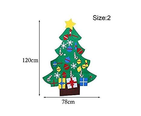 Ofye Árbol de Navidad de Fieltro con Joyas Desmontables, decoración para la Pared de los niños: Amazon.es: Jardín