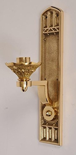 (Gothic Design Wall Mounted Church Consecration Candlestick in Solid Brass - Chalice (CCG-191))