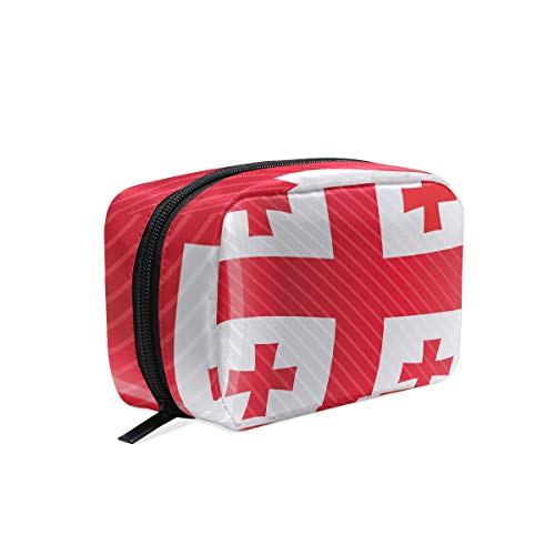 cosmetic bag Georgia Flag make up zip pouch ()