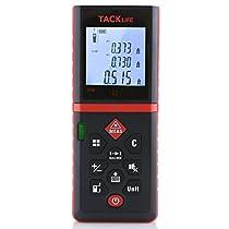 Tacklife Advanced Laser Measure 262Feet Digital Laser Distance Meter Mute Rangfinder Digital Tape Measure with Pythagorean Mode, Area, Volume Calculation