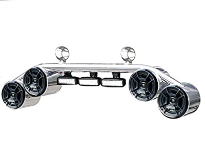 2-in-1 Wakeboard Tower Speaker Light Bar with Marine Audio Speakers detail review