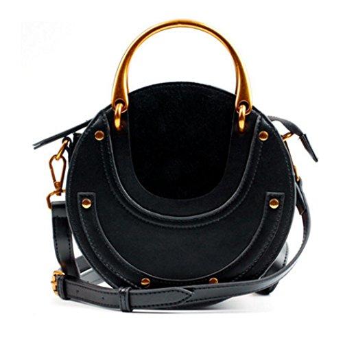 donne maniglia Actlure maniglia nere borsa delle a cuoio della genuino della spalla della bovina borsa del della pelle della di tracolla Borsa della 1qAH0n
