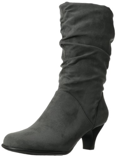Wise N Shine Mid Calf Boots- Grey Fabric 5.5 M, Grey Fabric