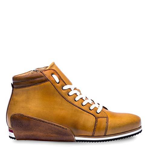 Mezlan NIRO Mens Hybrid Dress/Casual Hi-Top Sneaker - Hand-Stained Italian Calfskin - Handcrafted in Spain - Medium Width (10.5, Tan)