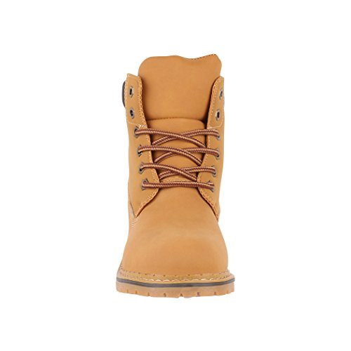 Elara London Donna Scarpe Chiuse Camel 0vx80z