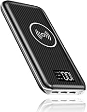 KEDRON Express E1 Portable Charger Wireless Power Bank 24000mAh High Capacity with Digital Display LCD Screen, 3 USB Output & Dual Input, External Battery Pack for All the Smartphones