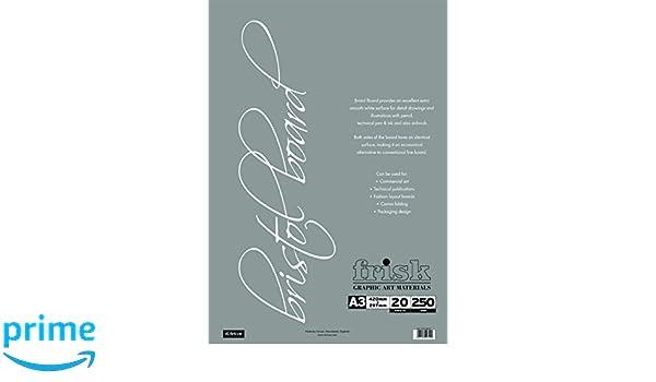 Frisk Bristol Board – Papel de dibujo /(280 g Bloc 20 hojas/), color ...