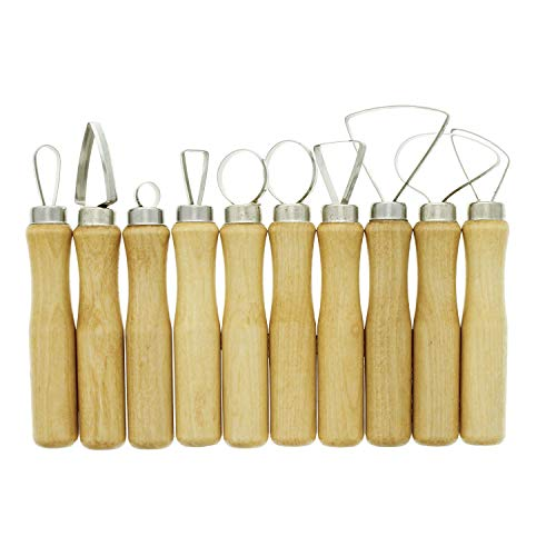 (U.S. Art Supply 10-Piece Pottery & Clay Sculpting Carving Tool Set )